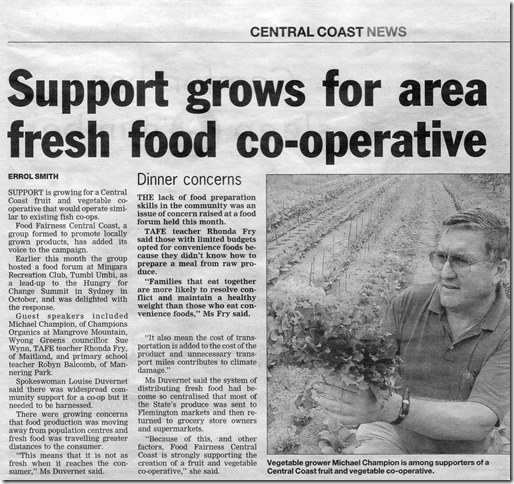 Michael Champions Central Coast Fresh Food Co-operative